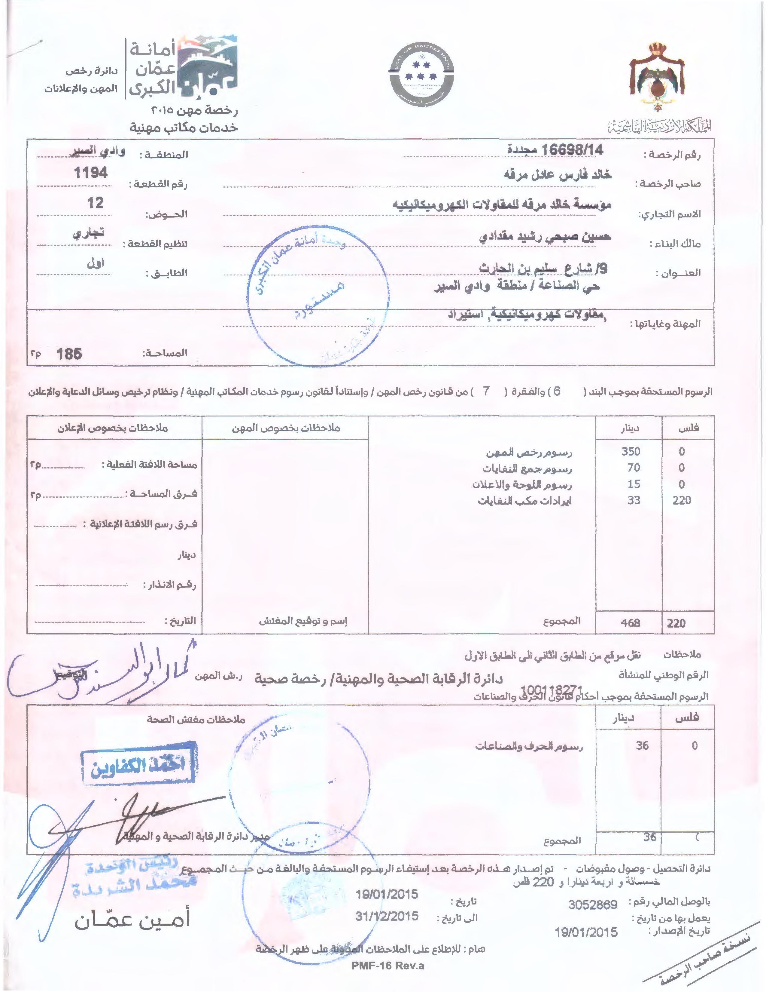 رخصة المهن